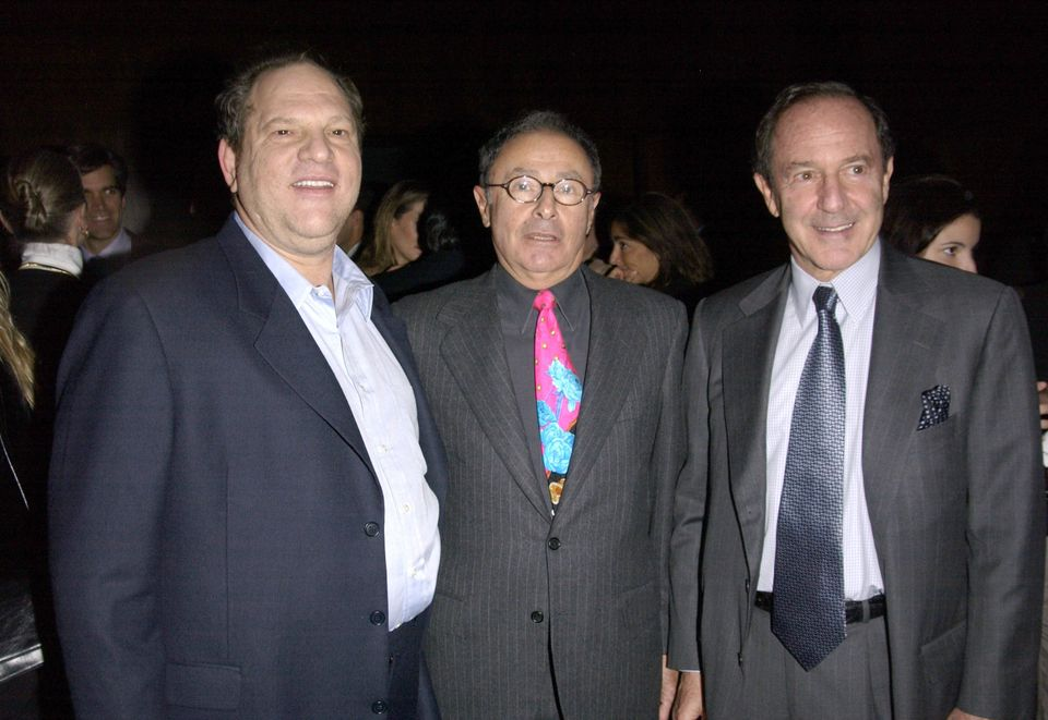 Harvey Weinstein, Peter Bart and Mort Zuckermancelebrate the release ofBart's book Dangerous...