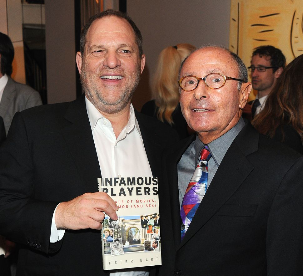 Harvey Weinstein and Peter Bart attend the launch party for Bart's book <i>Infamous Players</i>. The party was hosted by The