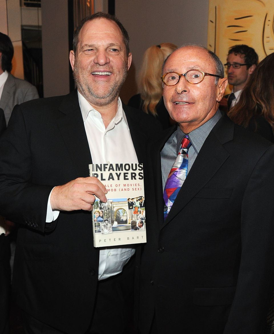 Harvey Weinstein and Peter Bart attend the launch party for Bart's book Infamous Players. The party was...