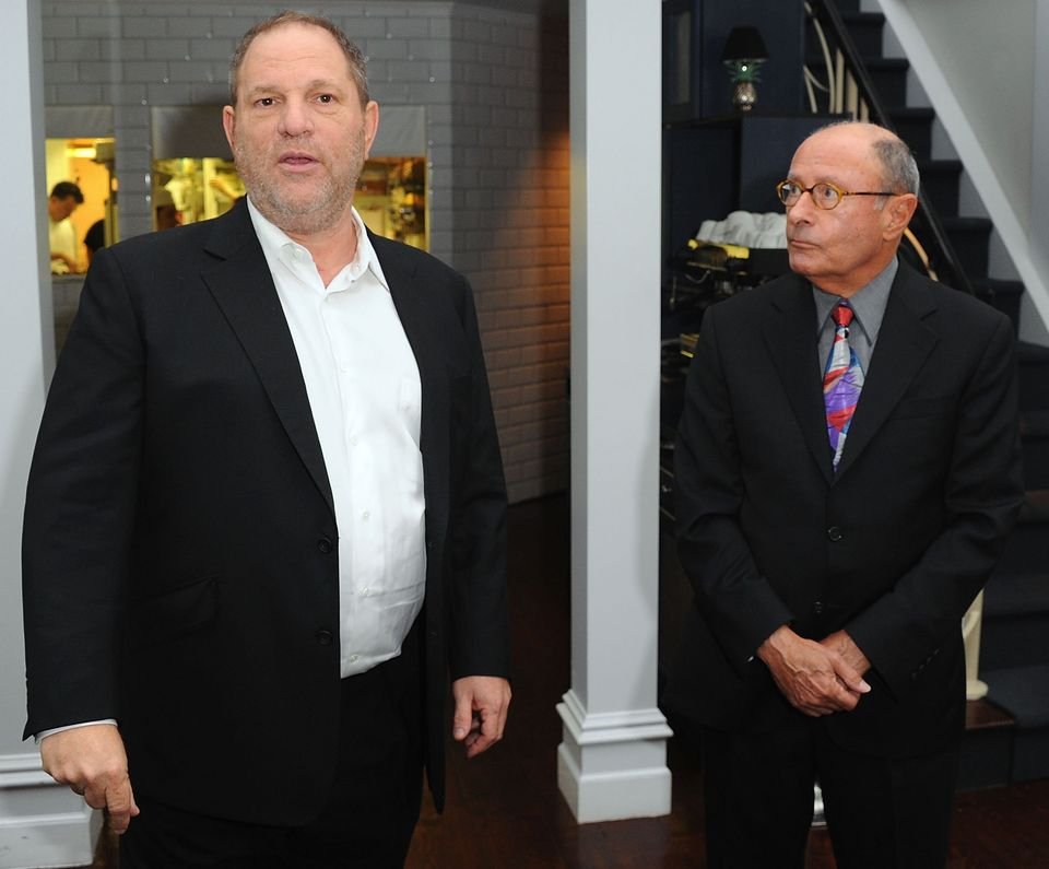 Harvey Weinstein and Peter Bart attend the launch party for Bart's bookInfamous Playersin...