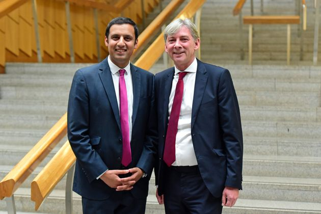 Anas Sarwar MSP (L) and Richard Leonard MSP (R), the two candidates to announce so far that they will...