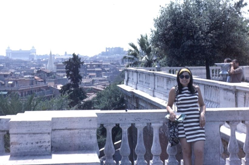 My 24-year-old self in Italy