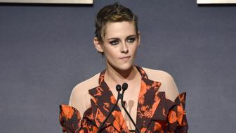 LOS ANGELES, CA - OCTOBER 16:  Kristen Stewart speaks onstage at ELLE's 24th Annual Women in Hollywood Celebration presented by L'Oreal Paris, Real Is Rare, Real Is A Diamond and CALVIN KLEIN at Four Seasons Hotel Los Angeles at Beverly Hills on October 16, 2017 in Los Angeles, California.  (Photo by Frazer Harrison/Getty Images for ELLE)