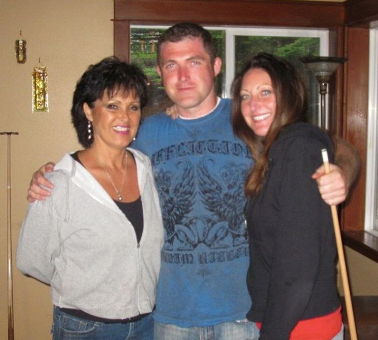 Rhonda Firestack-Harvey (left), her son, Rolland Gregg, and his ex-wife, Michelle Gregg, have been facing prison time for vio