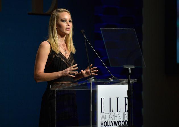 Jennifer Lawrence at Elle's Women in Hollywood