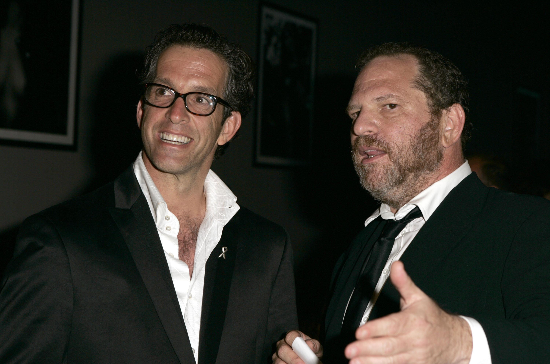 Kenneth Cole and Harvey Weinstein at an amfAR gala.