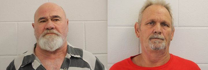 Frankie Gebhard, left, and Bill Moore Sr. have been charged with murder, aggravated assault, aggravated battery and concealin