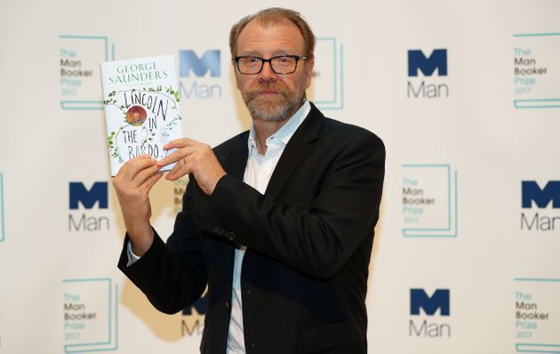 Author George Saunders poses for photographs during a photo-call in London for the six Man Booker shortlisted...