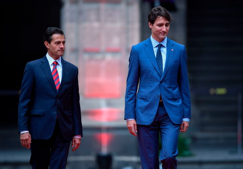 President Nieto of Mexico and Prime Minister Trudeau of Canada met in Mexico City last week to hold talks on NAFTA renegotiat