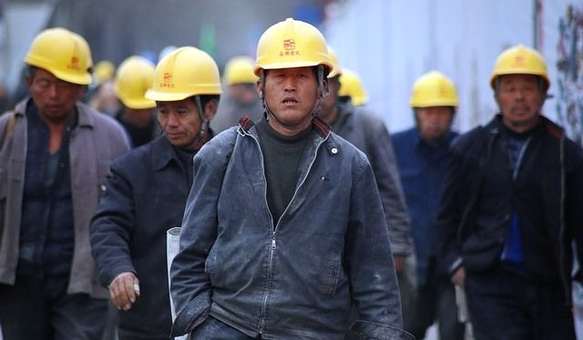 Chinese industrial workers.