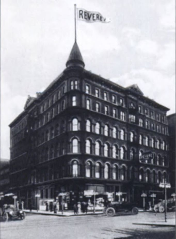 <p>The Revere House was closed after a massive fire in 1948 and later became Friedman's Capitol Hotel.</p>