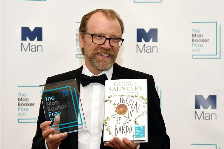 George Saunders, author of 'Lincoln in the Bardo,' won the 2017 Man Booker Prize for Fiction in London on Tuesday.