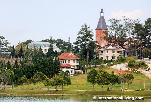 Grand French Colonial Architecture of the Lycée Yersin, a School for the Elite, Now a Teacher's College. Dalat, Vietnam.