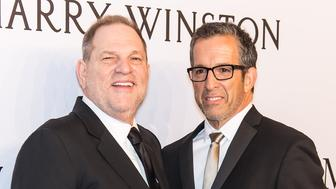 NEW YORK, NY - FEBRUARY 10:  Film producer Harvey Weinstein and fashion designer Kenneth Cole attend the 2016 amfAR New York Gala at Cipriani Wall Street on February 10, 2016 in New York City.  (Photo by Gilbert Carrasquillo/FilmMagic)