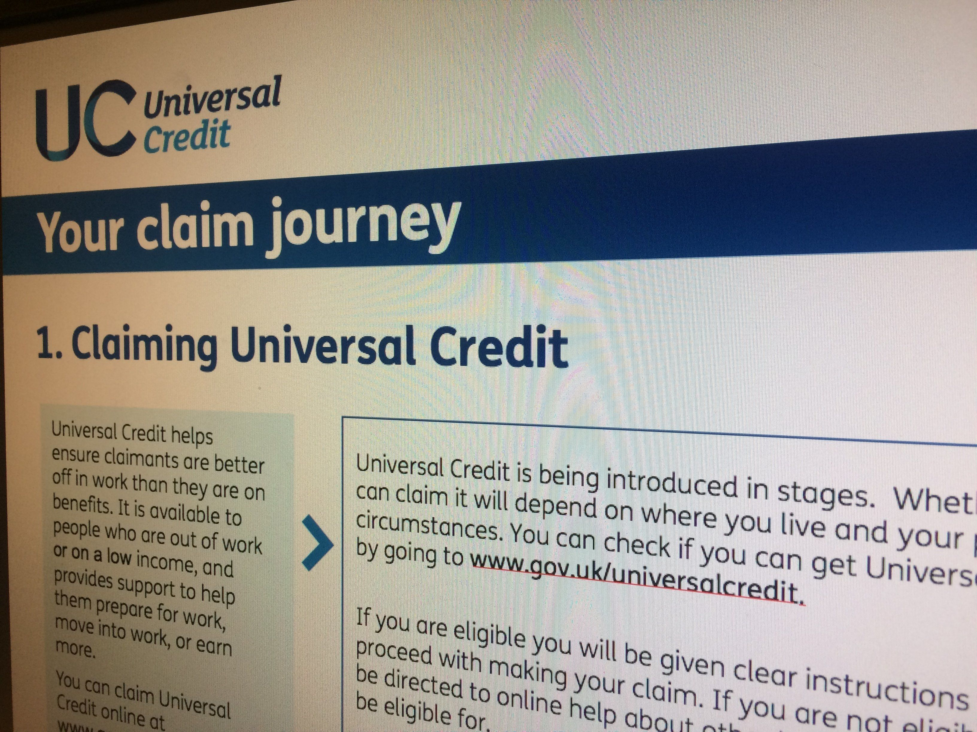 Universal Credit has been beset by problems in its roll out.