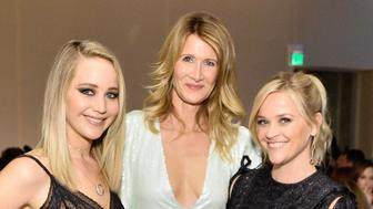 LOS ANGELES, CA - OCTOBER 16: (L-R) Jennifer Lawrence, Laura Dern and Reese Witherspoon attend ELLE's 24th Annual Women in Hollywood Celebration presented by L'Oreal Paris, Real Is Rare, Real Is A Diamond and CALVIN KLEIN at Four Seasons Hotel Los Angeles at Beverly Hills on October 16, 2017 in Los Angeles, California.  (Photo by Stefanie Keenan/Getty Images for ELLE)