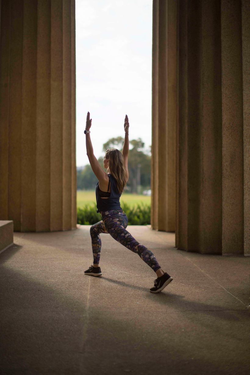 Striking a pose at the entrance of Centennial Park's Parthenon Museum