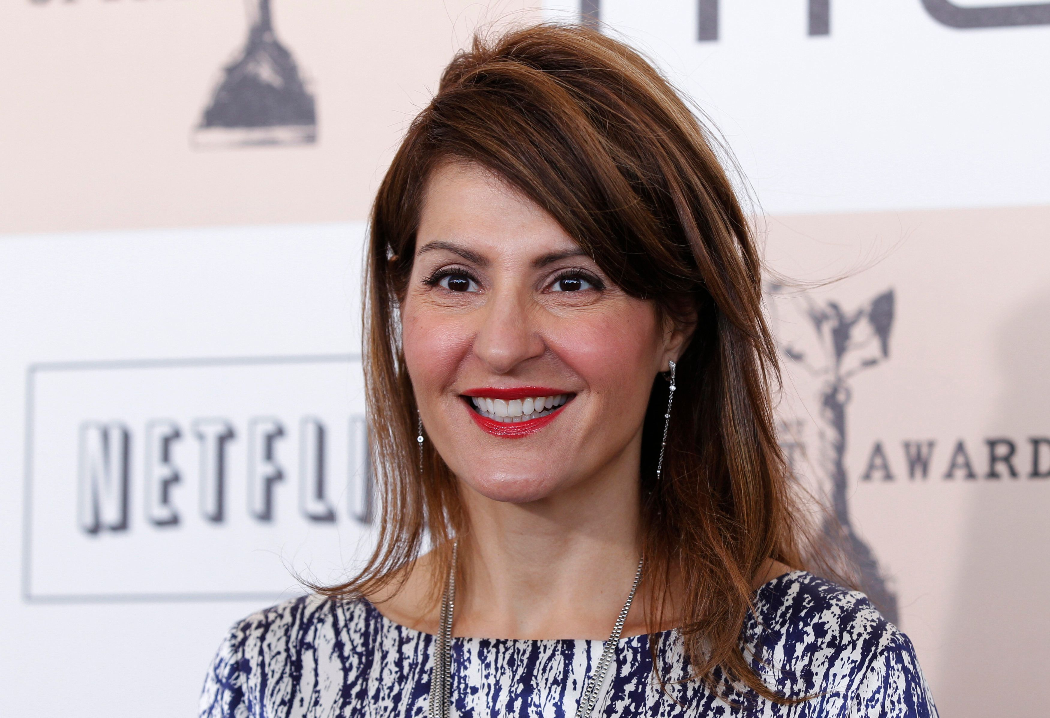 Actress Nia Vardalos arrives at the 2011 Film Independent Spirit Awards in Santa Monica, California February 26, 2011.  REUTERS/Danny Moloshok (UNITED STATES  - Tags: ENTERTAINMENT)