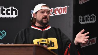 NEW YORK, NY - OCTOBER 07:  Kevin Smith hosts IMDb LIVE at NY Comic-Con at Javits Center on October 7, 2017 in New York City.  (Photo by Bryan Bedder/Getty Images for IMDb.com)