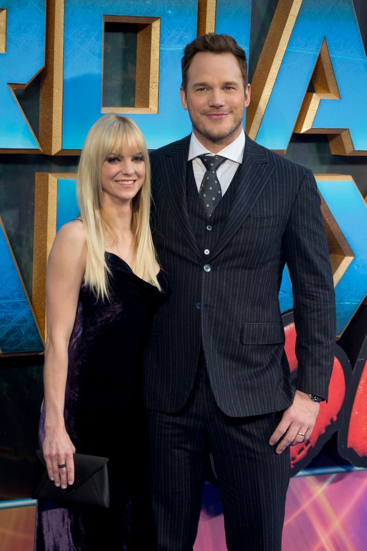 "Anna Faris and Chris Pratt at the ""Guardians of the Galaxy Vol. 2"" premiere."