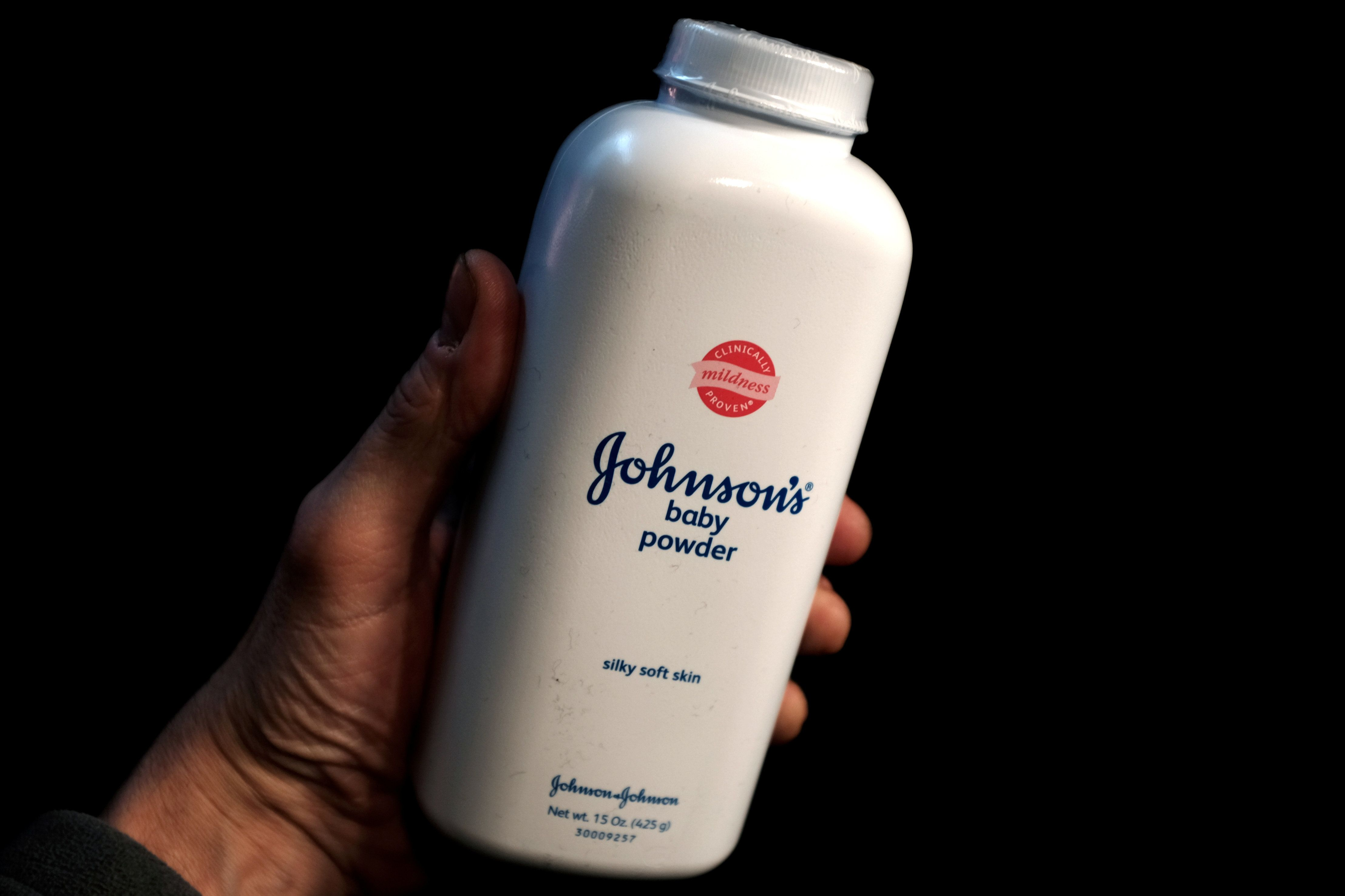 A bottle of Johnson and Johnson Baby Powder is seen in a photo illustration taken in New York, February 24, 2016.   REUTERS/Mike Segar/Illustration/File Photo                GLOBAL BUSINESS WEEK AHEAD PACKAGE    SEARCH BUSINESS WEEK AHEAD 17 OCT FOR ALL IMAGES