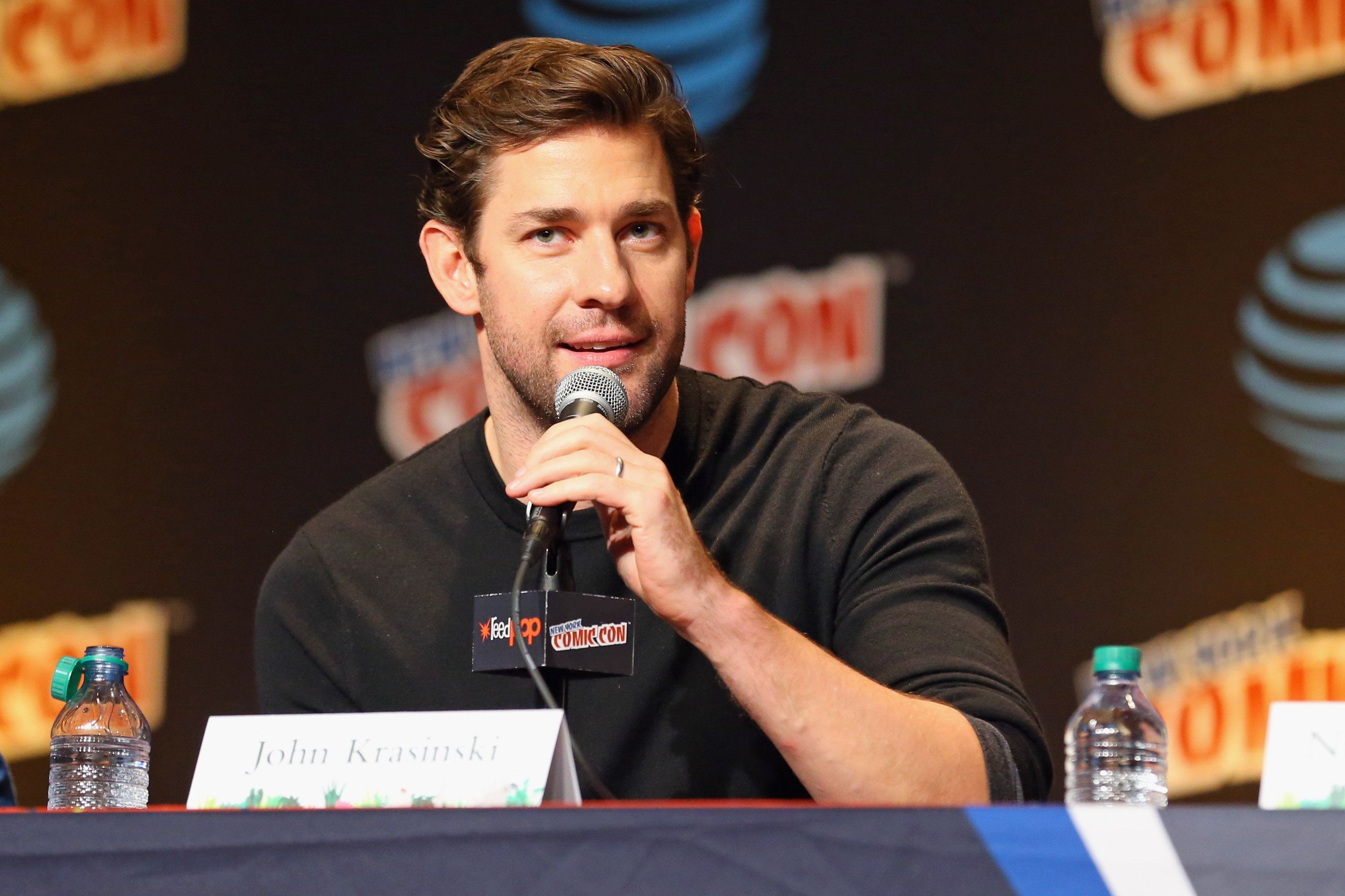 NEW YORK, NY - OCTOBER 07:  Actor John Krasinski speaks onstage during the Adult Swim: 'Dream Corp. LLC' panel at New York Comic Con on October 7, 2016 in New York City.  (Photo by Paul Zimmerman/Getty Images for Turner)