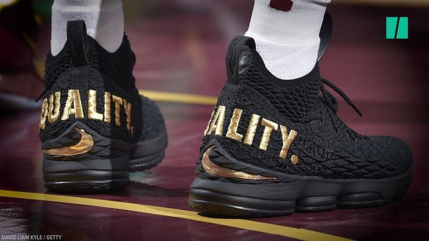LeBron's Footwear Makes A Powerful Statement