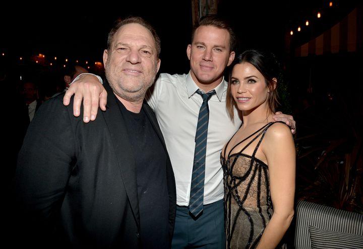 "Harvey Weinstein, Channing Tatum and Jenna Dewan at the ""The Hateful Eight"" premiere."