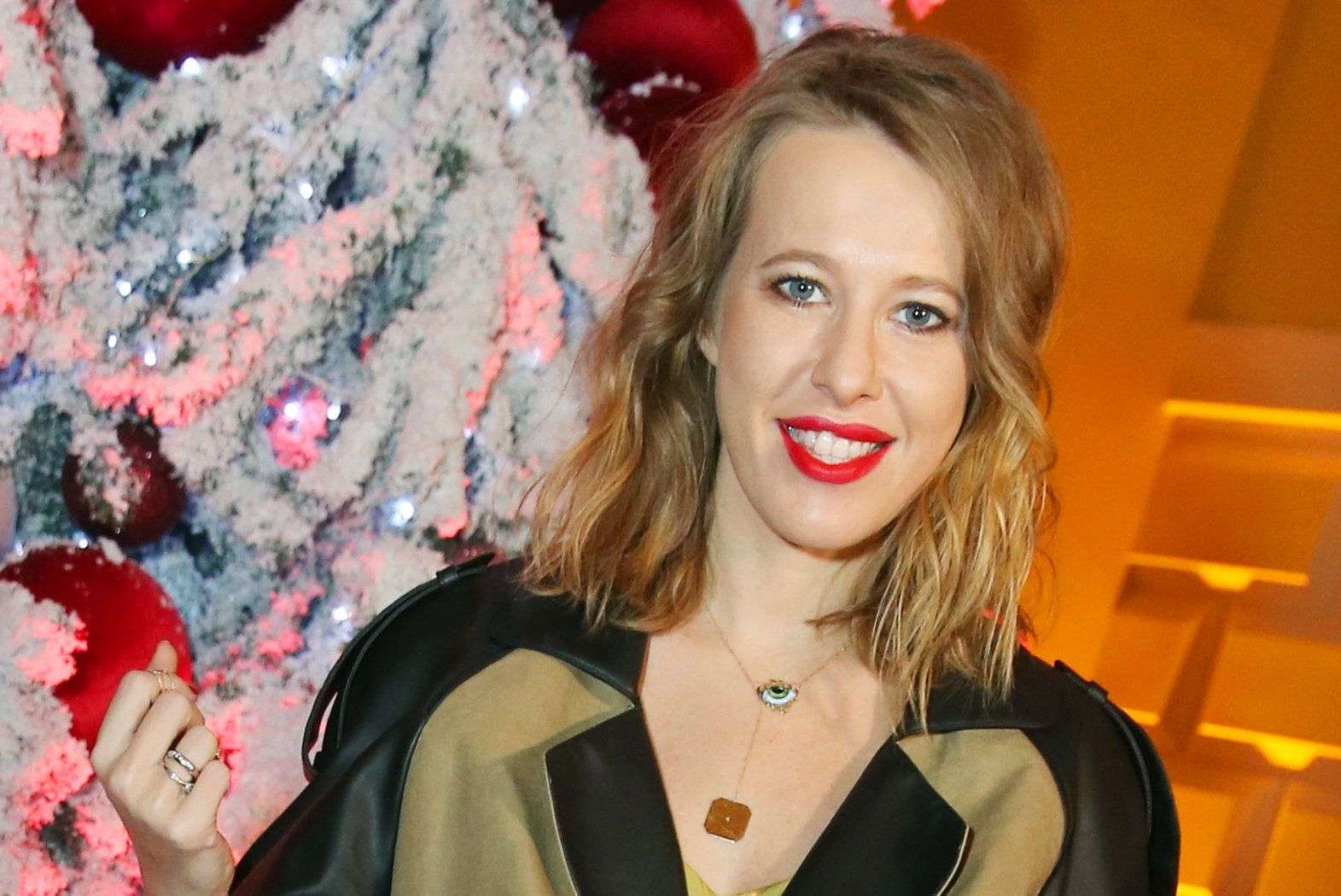 MOSCOW, RUSSIA - DECEMBER 9, 2016: Russian TV presenter and journalist Ksenia Sobchak attends the 2016 Glamour Women of the Year awards ceremony. Vyacheslav Prokofyev/TASS (Photo by Vyacheslav Prokofyev\TASS via Getty Images)