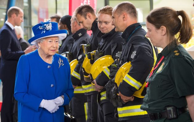 The Queen meets firefighters and paramedics involved in the Grenfell