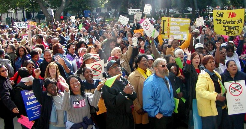 2001 Detroit Federation of Teacher protest charter expansion