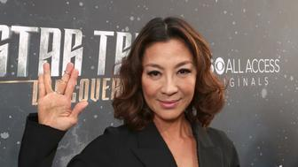 LOS ANGELES, CA - SEPTEMBER 19:  Michelle Yeoh attends the premiere of CBS's 'Star Trek: Discovery' at The Cinerama Dome on September 19, 2017 in Los Angeles, California.  (Photo by Todd Williamson/Getty Images)