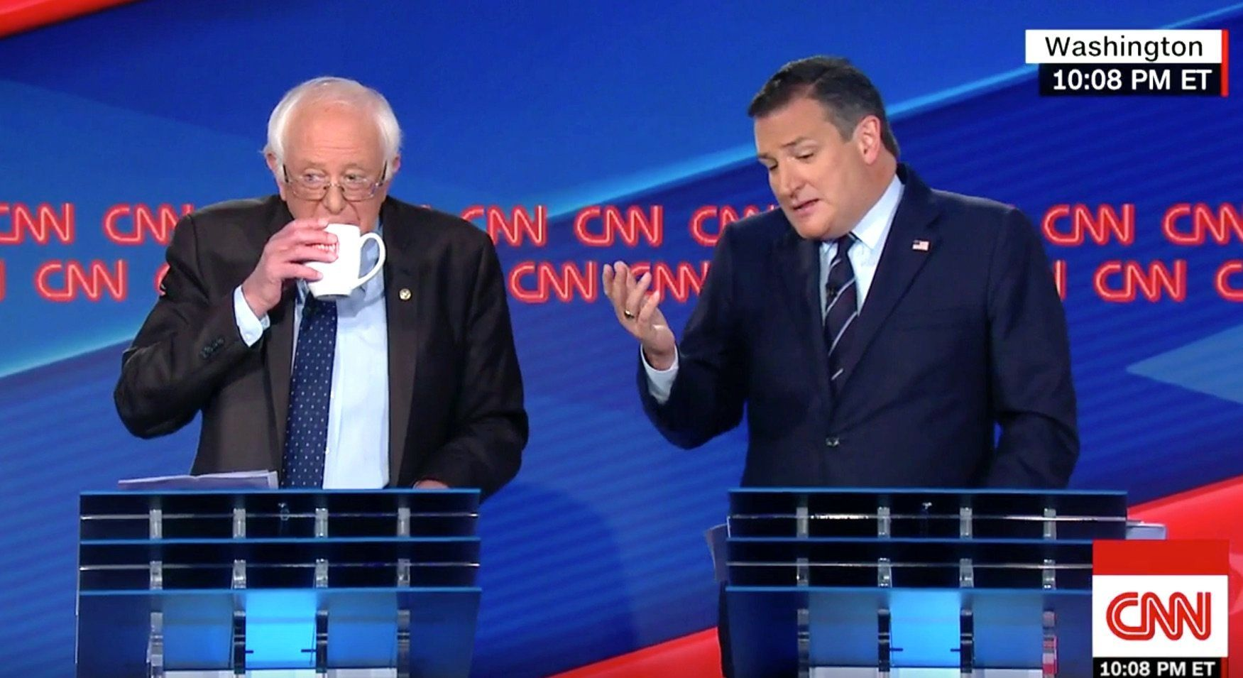 Bernie Sanders and Ted Cruz