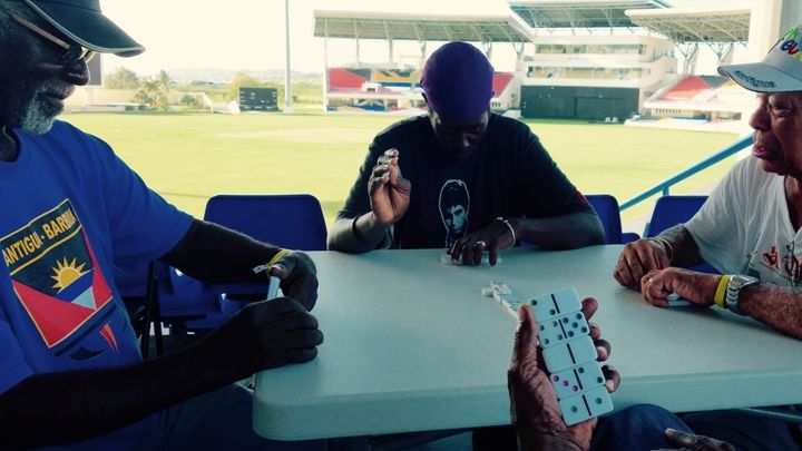 <p>Evacuees from Barbuda were temporarily housed at the cricket stadium in Antigua </p>