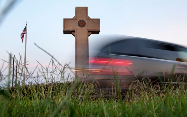 Thousands of vehicles daily pass the Memorial Peace Cross in Prince George's County,
