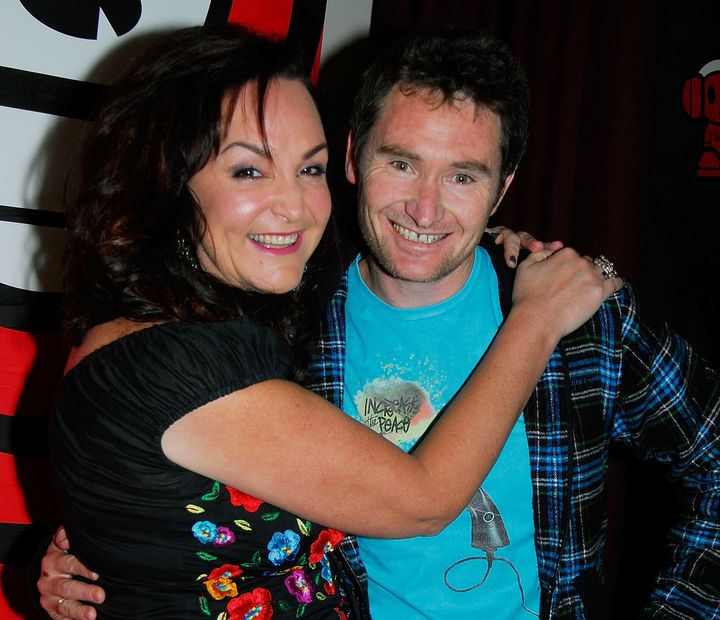 "Kate Langbroek and Dave Hughes are seen in 2008. The Australian radio duo are hosts of the ""Hughesy & Kate"" radio show on"