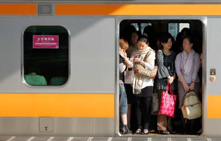 A women-only carriage in Tokyo.