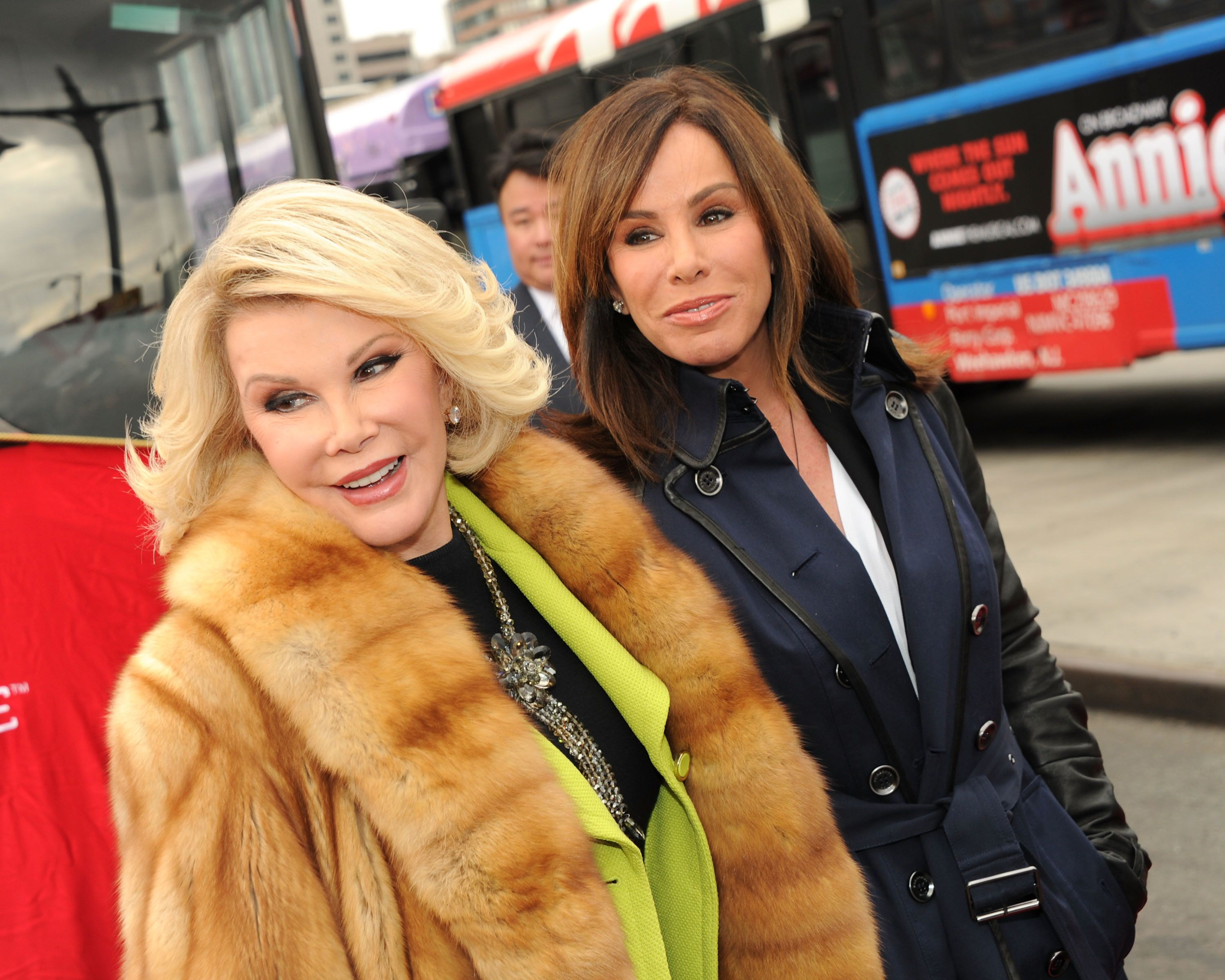 NEW YORK, NY - MARCH 01:  Joan Rivers and Melissa Rivers attend Gray Line New York honors WE tv stars Joan & Melissa Rivers at Pier 78 on March 1, 2013 in New York City.  (Photo by Ben Gabbe/Getty Images)