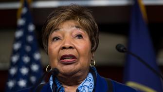 UNITED STATES - APRIL 9: Rep. Eddie Bernice Johnson, D-Texas, participates in the House Democrats' news conference on the Republican budget on Wednesday, April 9, 2014. (Photo By Bill Clark/CQ Roll Call)