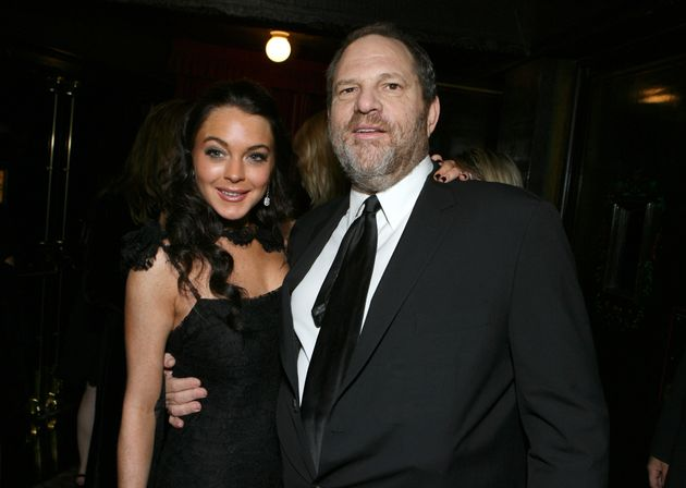 Lindsay Lohan and Harvey Weinstein at the premiere of