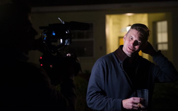 Richard Spencer is interviewed by the HuffPost in a remote location outside Gainesville, Florida, on Oct. 18.