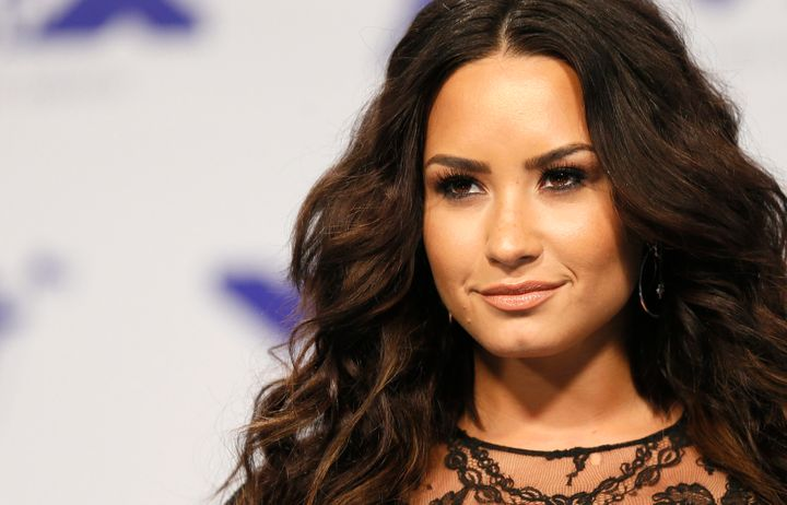 A recent photo of Demi Lovato taken at the 2017 MTV Video Music Awards.