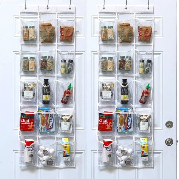 "Who says over-the-door organizers are only for closets? Take the <a href=""https://www.amazon.com/Pack-SimpleHouseware-Crystal"