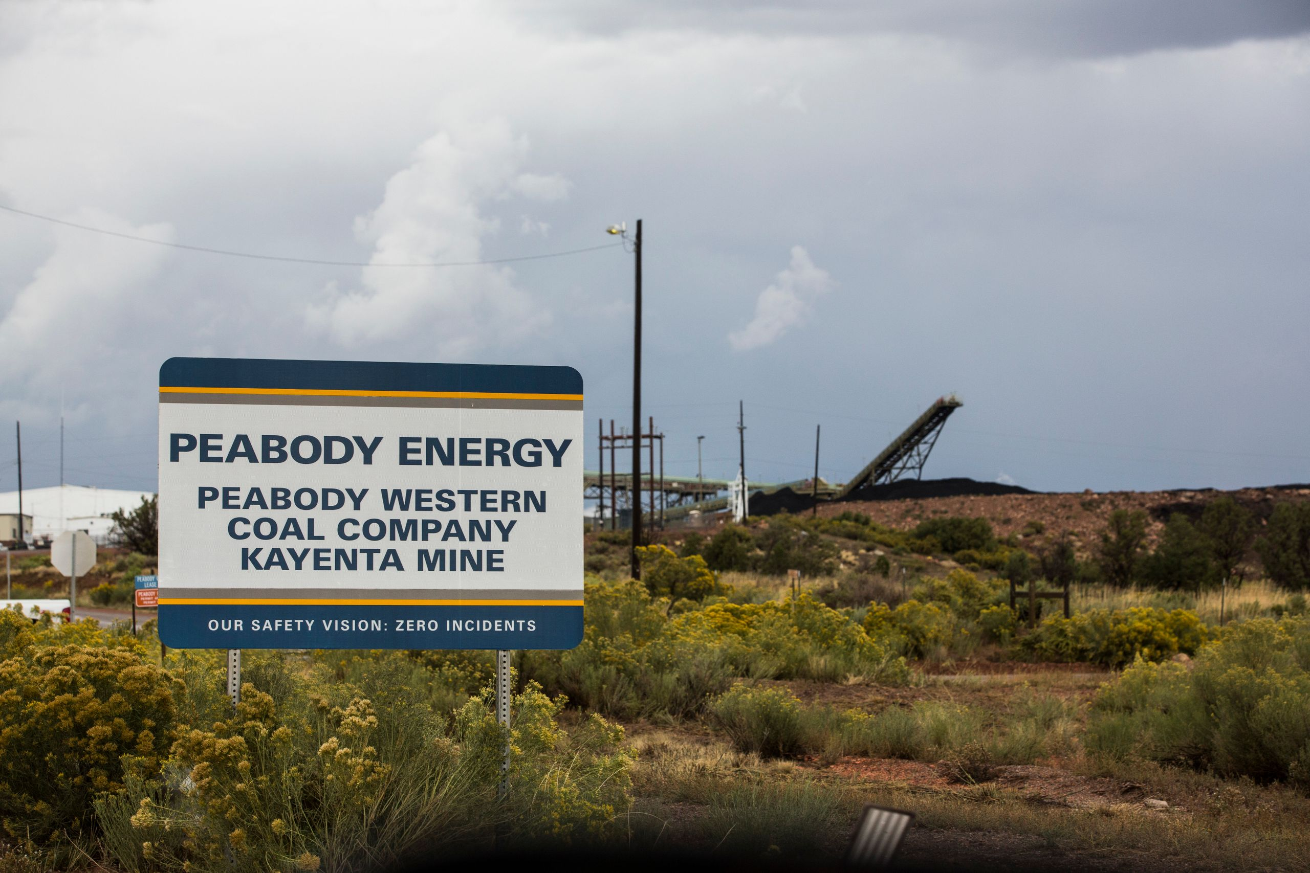 Peabody Coal mines are seen in Black Mesa, Arizona.