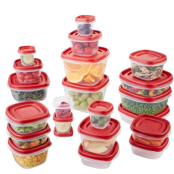 "Replace those lid-less containers and mismatched storage containers for t<a href=""https://www.amazon.com/Rubbermaid-Easy-Stor"