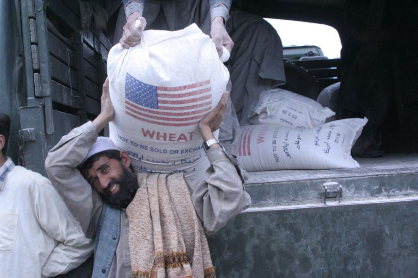 USAID DELIVERS FOOD AFTER 2005 PAKISTAN QUAKE