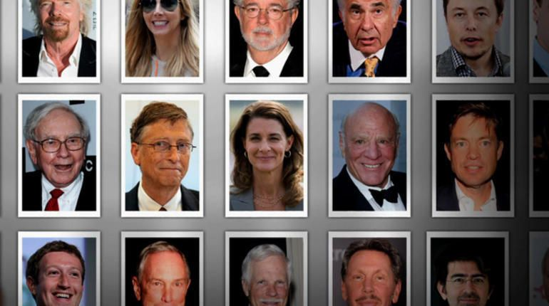 A handful of the 150-plus Giving Pledge billionaires.