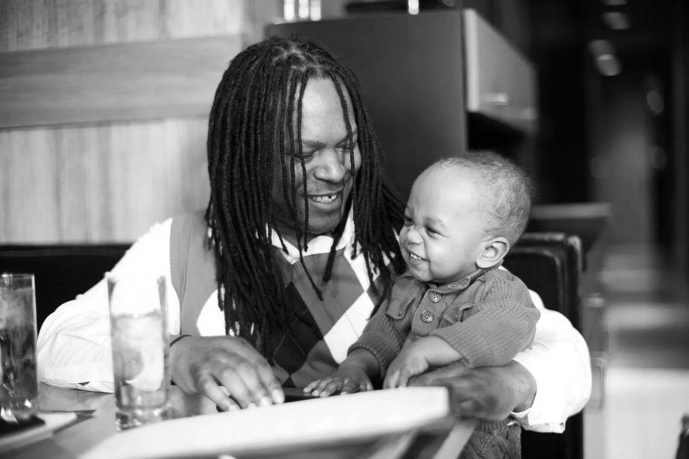 Shaka with his son.