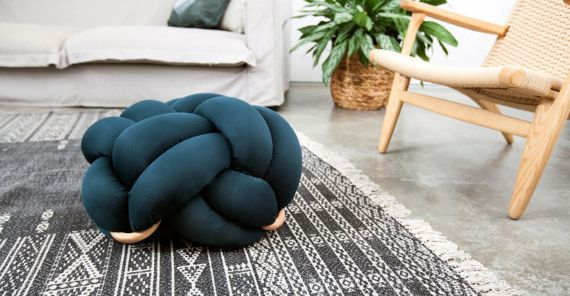 "Shop this floor cushion at <a href=""https://www.etsy.com/listing/490244697/medium-knot-floor-cushions-in-dark-green?utm_mediu"