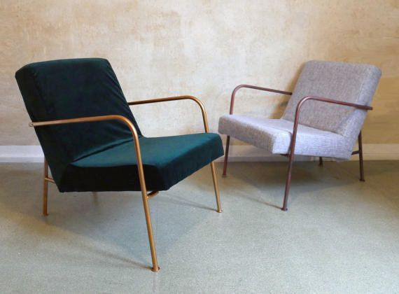 "This chair is a modern interpretation of the classic armchair. Get it on <a href=""https://www.etsy.com/listing/516633295/gree"